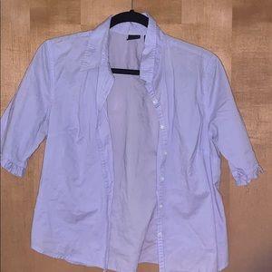 Purple Button-up GAP Blouse Size Medium